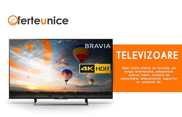 Vezi gama noastra de televizoare ieftine la oferteunice. Cauti televizor? Afla de unde poti cumpara televizoare ieftine. #oferteunice #Romania #sonytv #philips #LG #horizon