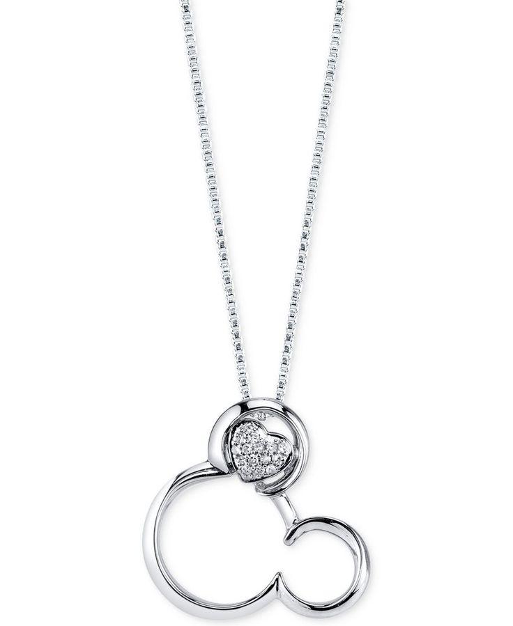 Fine Jewelry Diamond-Accent Two-Tone Mouse Pendant Necklace pMX1BRq