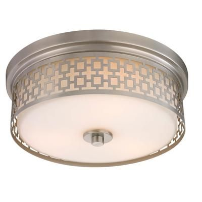 Home Decorators Collection Brushed Nickel 3 Light Laser Cut Drum Flush Mount 25640 71 Home
