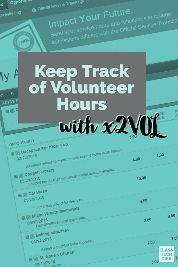 Pin On Volunteer Hours
