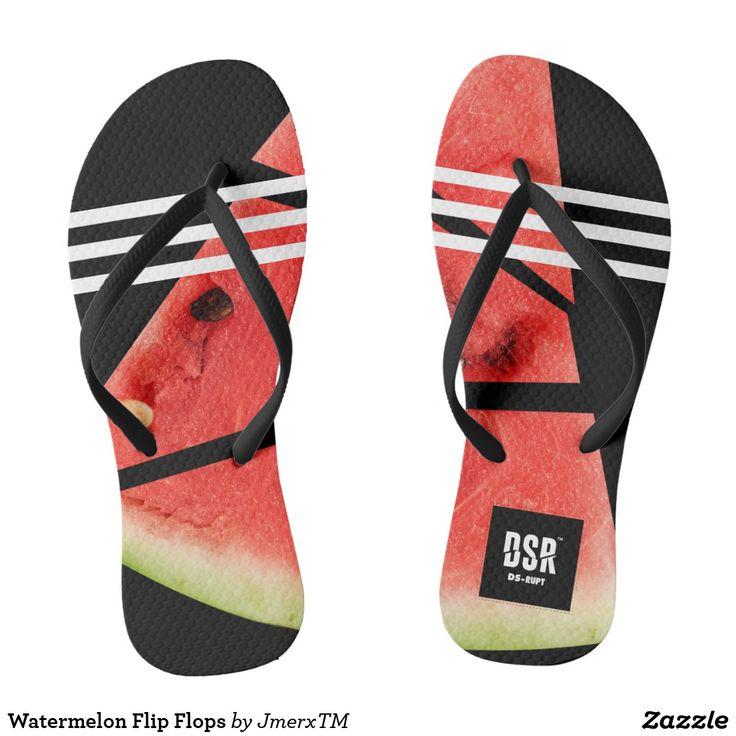 Custom Women's Men's Summer Slippers Mosaic Tiles Sandals Beach Pool Party Flip Flops