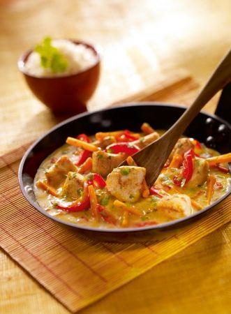 mmmmmmm....... CHINA: Poulet coco sauce au curry jaune