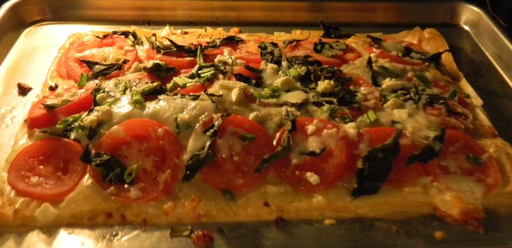 Healthy Pizza Recipes: Filo Or Phyllo Dough Pizza With Feta, Basil And Tomatoes