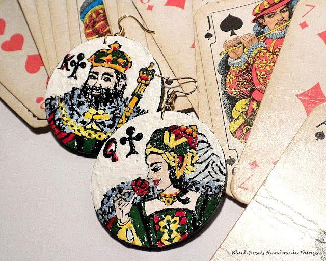 #cards, #handmade, #play, #earrings, #jewellery, #painted