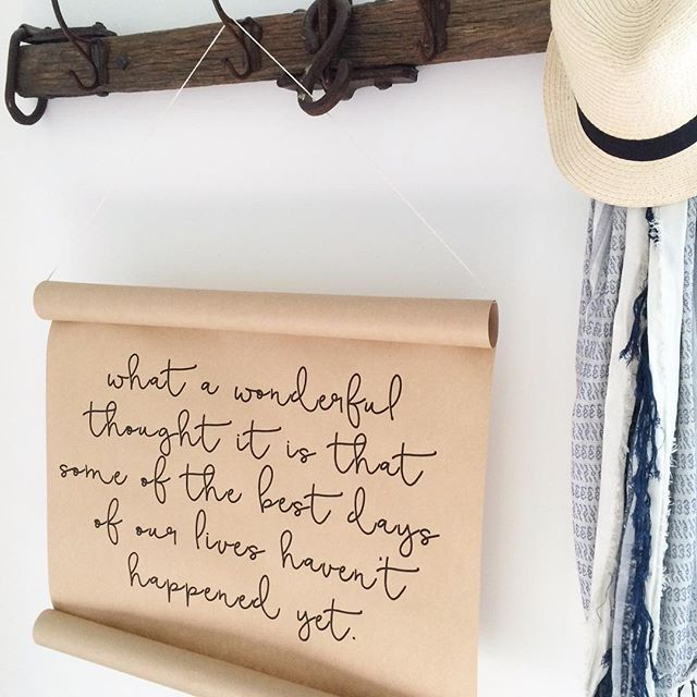 hanging paper scrolls with inspiring quotes or bible verses