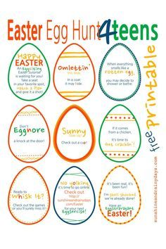 Looking for a fun way to surprise your teenagers this Easter? How about a Easter Egg Hunt for Teens full of Eggstravagant puns and FUN! Let's make those teenagers work Eggstra hard for their Easter Surprise! Okay, okay, I'll stop! I'm just so Eggstatic. Whoops!