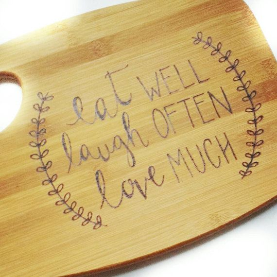 Personalized housewarming gift, custom cutting board, gifts for her, Christmas gift, gifts for mom, cutting board, wood cutting board  This would make a great personalized touch to any kitchen. It can be used as décor but also safe for cutting/chopping as well. The size options are 9x12 and 11x15. They can be personalized with family names, kitchen sayings, etc. My boards are unique because all my lettering is done freehand. In the notes, please note what saying you would want and also i...