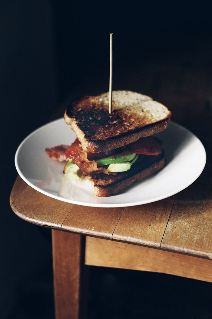 Bacon, avocado & tomato sandwich | At the breakfast table