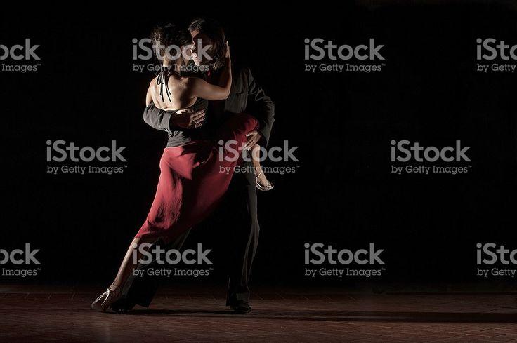 Der Leidenschaft Tango tanzen – lizenzfreie Stock-Fotografie