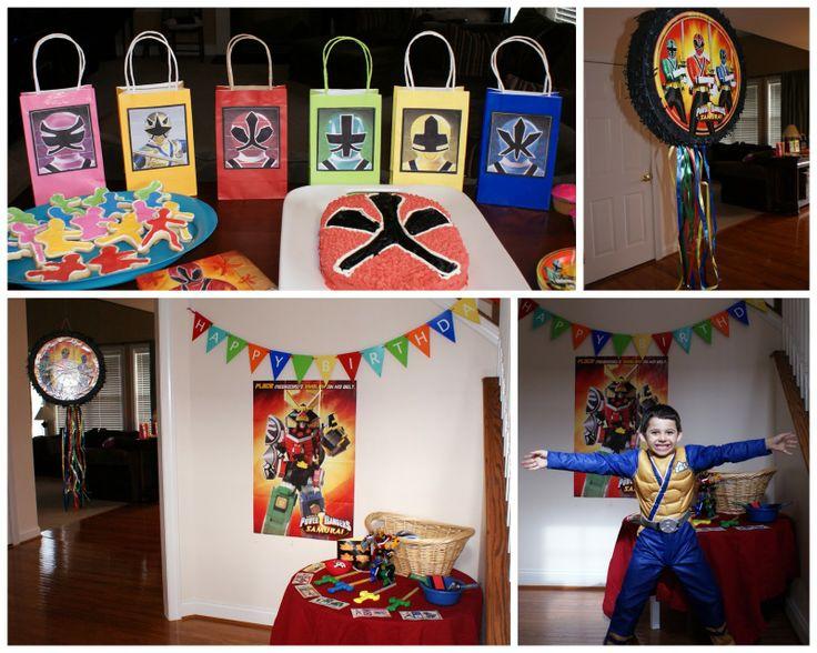 Crafty Celebrations : Power Ranger Birthday Party