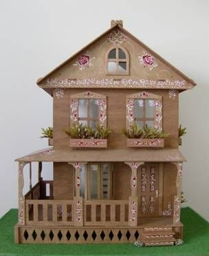 Cardboard Doll House | ... to create green plants for my Washington Dollhouse's flower boxes