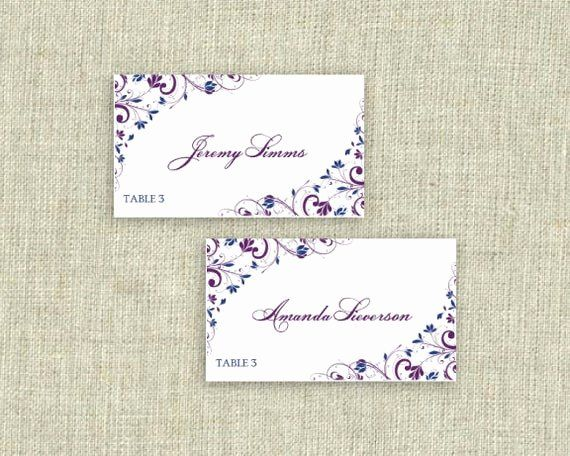 Avery Place Cards Template Lovely Place Card Template Download Instantly By Karmakweddings Card Template Card Templates Card Templates Free