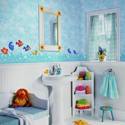 Яркие и интересные идеи для детской ванной комнаты