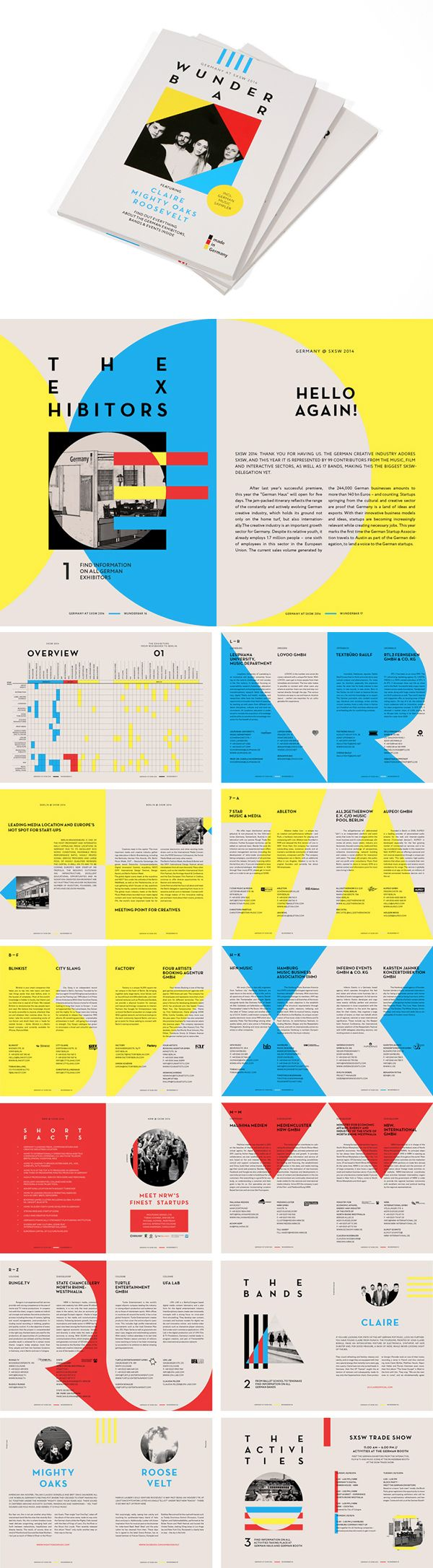 sxsw 2014 german haus booklet layoutbooklet designsxsw 2014brochure ideascatalog - Booklet Design Ideas