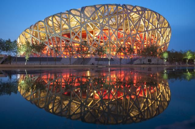 Stadium and Arena Pictures: The 2008 Olympic Stadium, the Beijing National Stadium