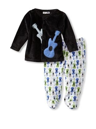 50% OFF Rumble Tumble Baby Plush Jacket Set (Black)