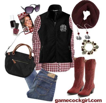 Gamecock Girl Gameday Look - Bowl Game Beauty #gamecocks #usc #forevertothee