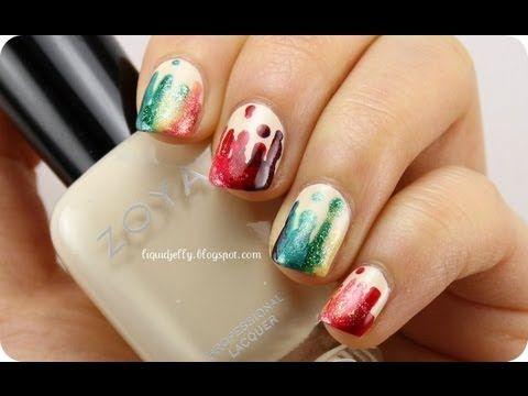 Rainbow Drip Nails Video Tutorial