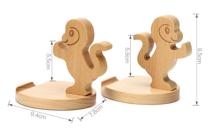 Cute Wooden Monkey Cell Phone Tablet  Stand Holder