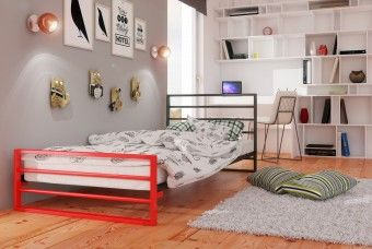 Kovová postel model 7J DUOCOLOR