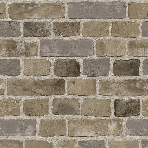 Sunworthy Brick Wallpaper (back drop for the built-ins. Mike's idea!)