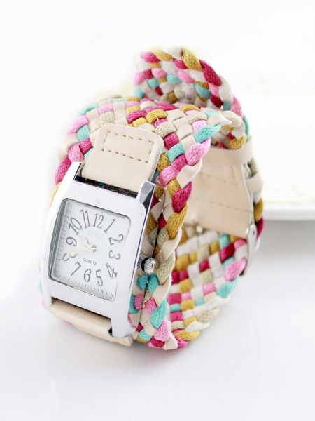 Multicolor Weave Watch Bracelet