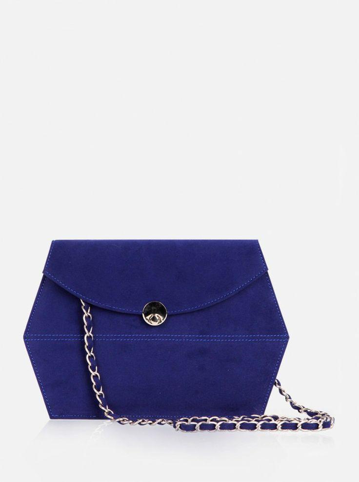 Sweet Talk Hexagon clutch bag #clutchbag #taspesta #handbag #clutchpesta #segienam #suede #messengerbag #simple #elegant #stylish #blue Kindly visit our website : www.bagquire.com