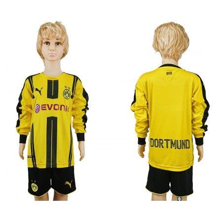 #BVB Trøje Børn 16-17 Hjemmebanetrøje Lange ærmer.222,01KR.shirtshopservice@gmail.com