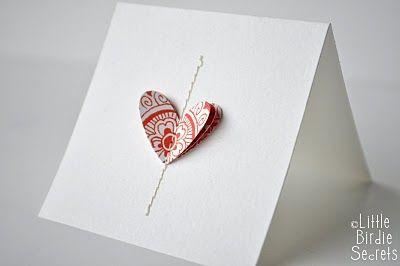 : Easy Note, Birdies Secret, Gifts Ideas, Handmade Cards, Diy Gifts, Love Note, Note Cards, Cards Diy, Valentines Cards
