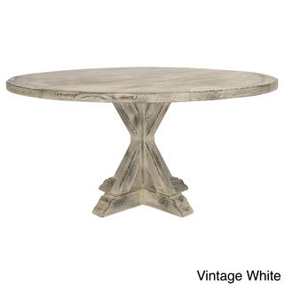 La Phillippe Reclaimed Wood Round Dining Table By South Cone Home