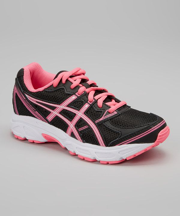Love this Black Hot Pink Patriot 6 GS Running Shoe - Girls by ASICS on #