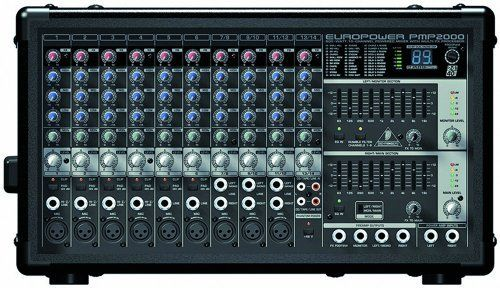 Behringer EUROPOWER PMP2000 800-Watt 10-Channel Powered by Behringer. $295.00. Amazon.com                If you need superior stereo sound for small club gigs, churches or speeches, but have to keep the outboard gear to a minimum, the 10-channel PMP2000 can really deliver. This 800-Watt mixer has built-in mic preamps and an FX processor, as well as enough power to drive both mains and monitors, thanks to dual 350-Watt onboard power amps.                                    Cho...