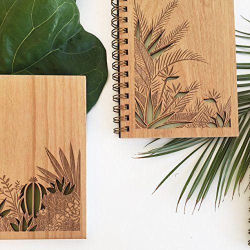 Amazon.com: Desert Garden Lasercut Wood Journal: Handmade