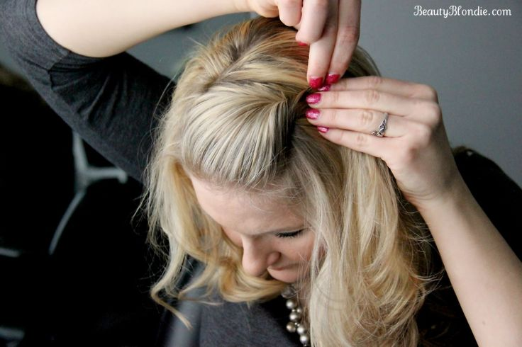 Side Bang, Pin Back Poof Using Just 1 Bobby Pin {Video} | Elisabeth Johnson