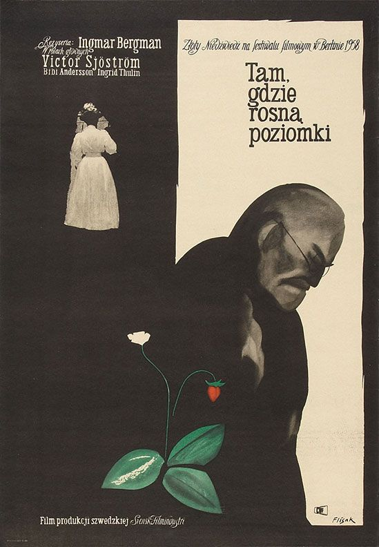 """Movie Poster of the Week: """"Wild Strawberries"""" and the Posters of Jerzy Flisak"""