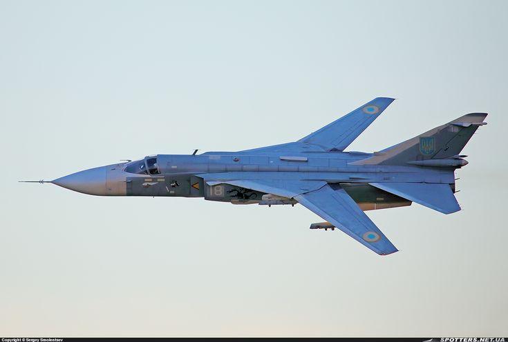 Ukraine Air Force SU-24 Fighter-Bomber. NATO Name Fencer.
