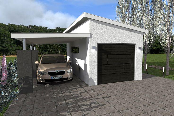 Basalt garasje med Carport - Leca - Last ned PDF med detaljtegninger og materialliste her