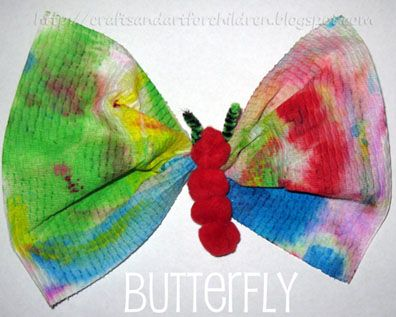 Caterpillar to butterfly craft