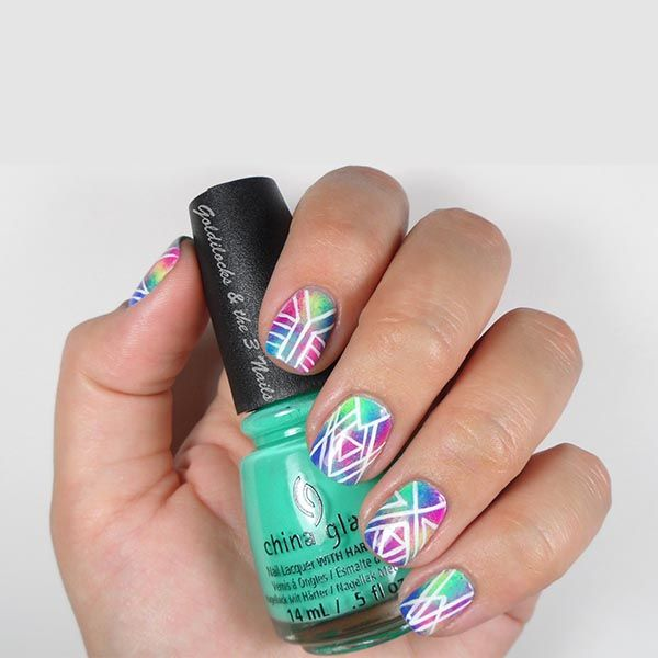 24 best purple nail designs images on pinterest purple nail tie dye gradient geometric nails by prinsesfo Image collections