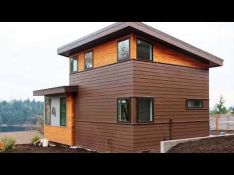Микро дом-куб площадью 16 м2 - YouTube