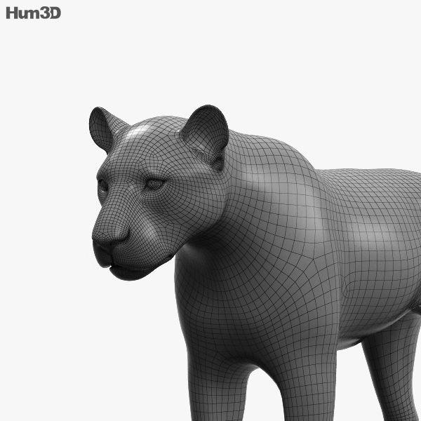 3d Model Of Lion Hd 3d Model Animals Lion