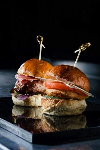 A perfect relationship is good, but a #delicious #burger is always a better idea! For him, we offer a juicy #beef burger with red #lettuce and #prosciutto. For her, a lighter version with #turkey burger, tomato and #Parmesan flakes. photo: #ventouris_photography