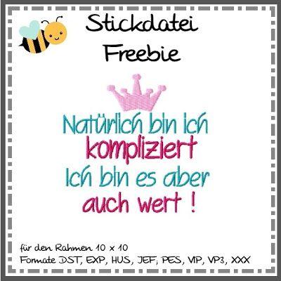 binimey Stickdatei Freebie