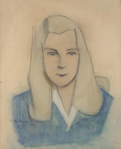 Helene Schjerfbeck, NUOREN TYTÖN MUOTOKUVA (PORTRAIT OF YOUNG GIRL)