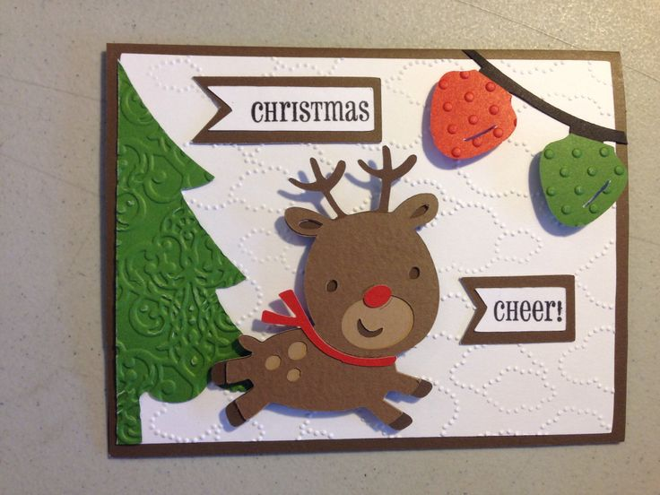 Another one of my christmas cards for 2013.  Used the Cricut Create A Critter cartridge.