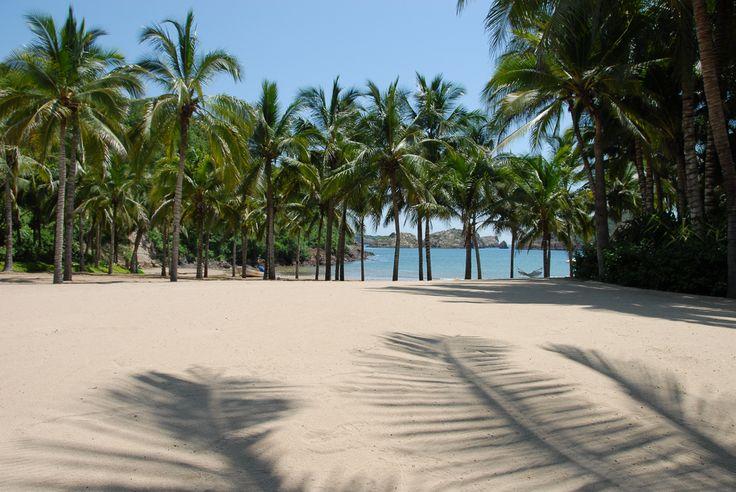 The beach at Caleta Blanca Cuixmala
