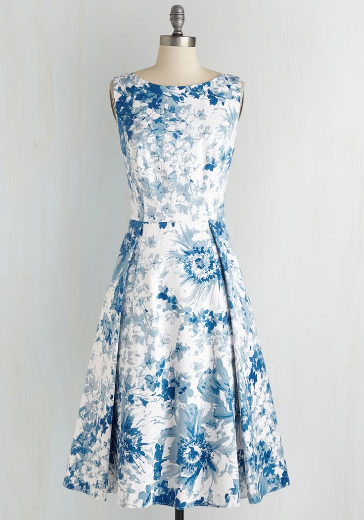 Make the Cotillion Dress. As the maven of manners, youre as elegant as can be at the etiquette brunch in this flawless floral midi by Adrianna Papell! #white #modcloth