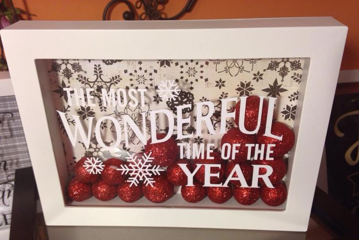 Christmas - Shadow box - vinyl