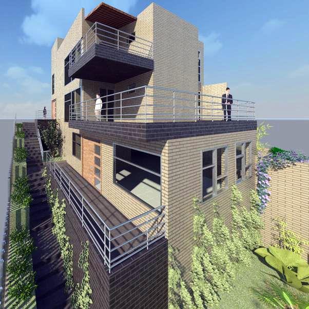 Edificio de vivienda bifamiliar en el barrio Loma del Barro - Envigado - Antioquia