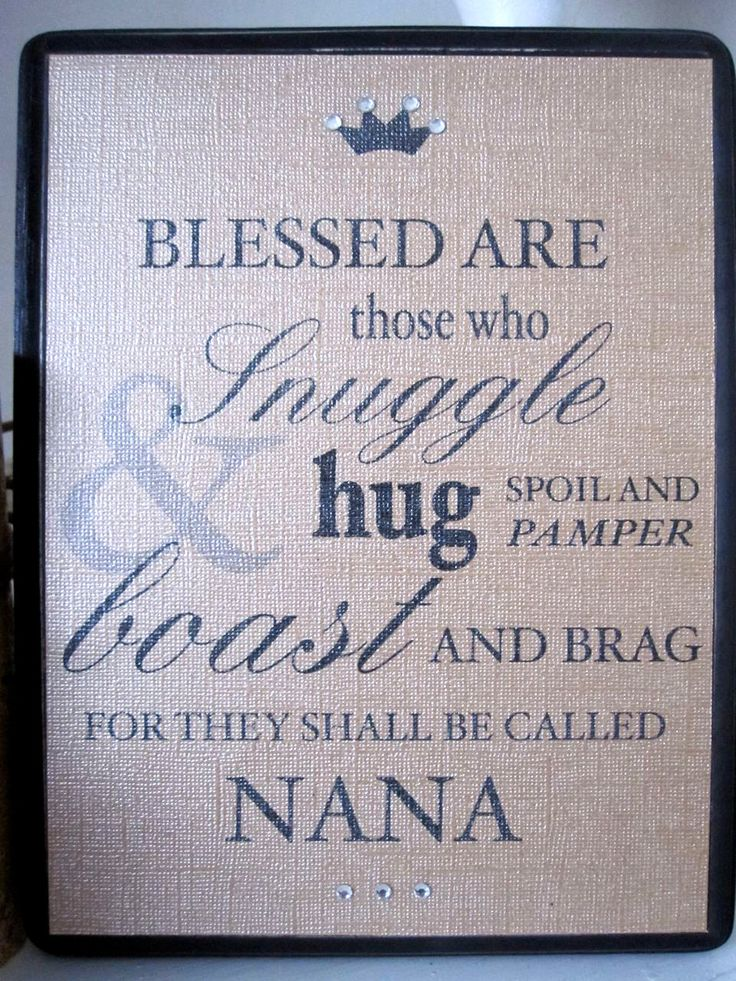 GRANDMOTHER Typography QUOTE Personalized for Nana by RanaMcIntyre